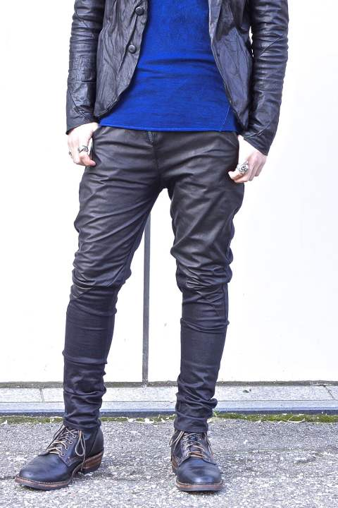 Leather Combination Pants BLACK SPver.