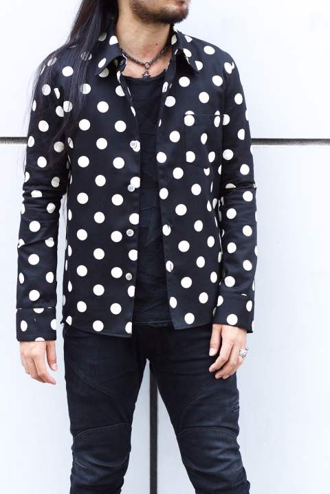 THE DOTS SHIRTS Black