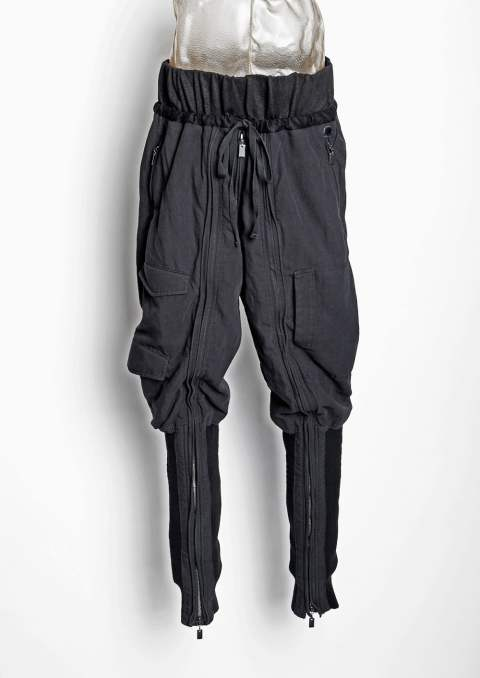 BOT-CLT / DRAWSTRING WAIST LEG WARMER TROUSERS(Black)