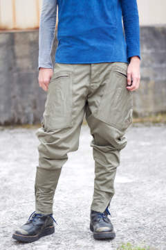 CARGO RIDING STRETCH TROUSERS / KHAKI